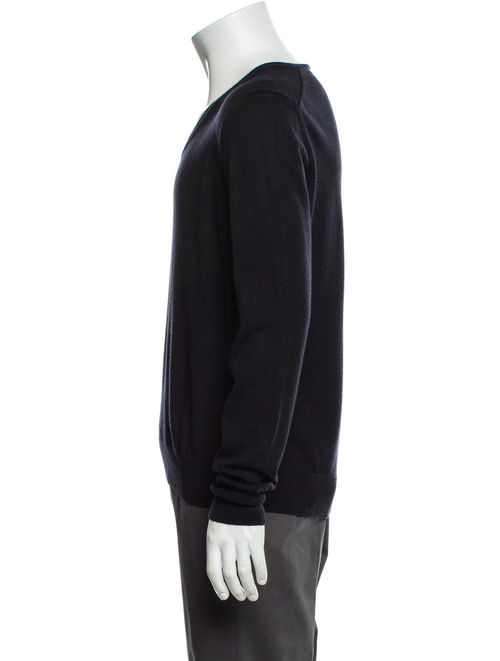Prada Wool V-Neck Pullover Wool - image 2