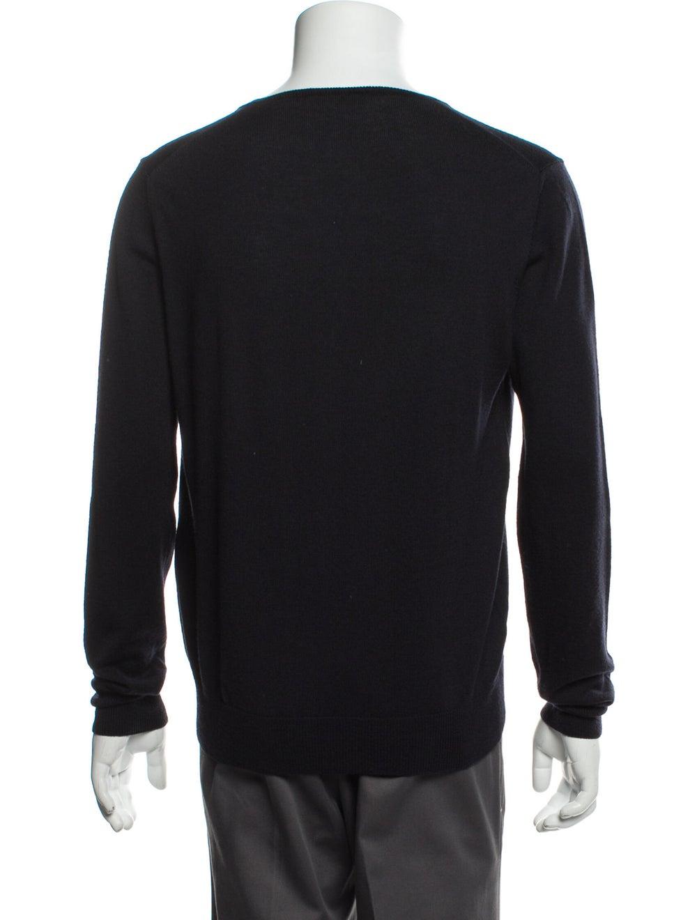 Prada Wool V-Neck Pullover Wool - image 3