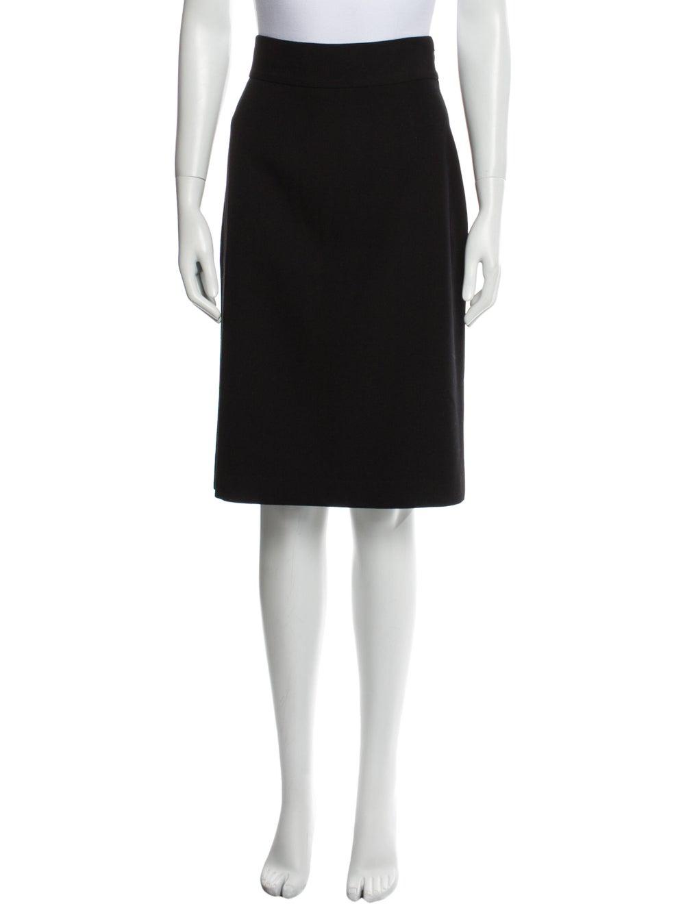 Prada Virgin Wool Knee-Length Skirt Wool - image 1