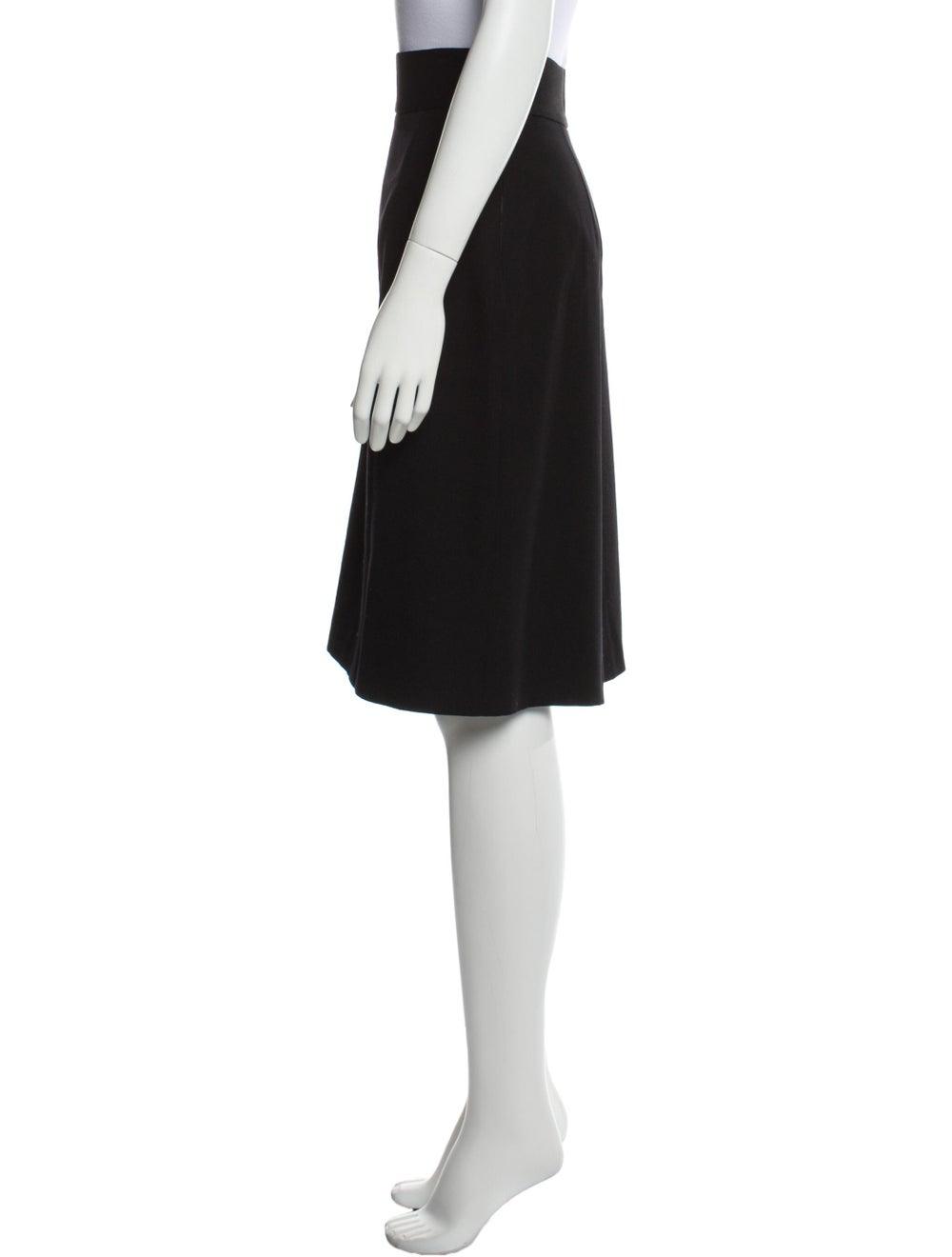 Prada Virgin Wool Knee-Length Skirt Wool - image 2