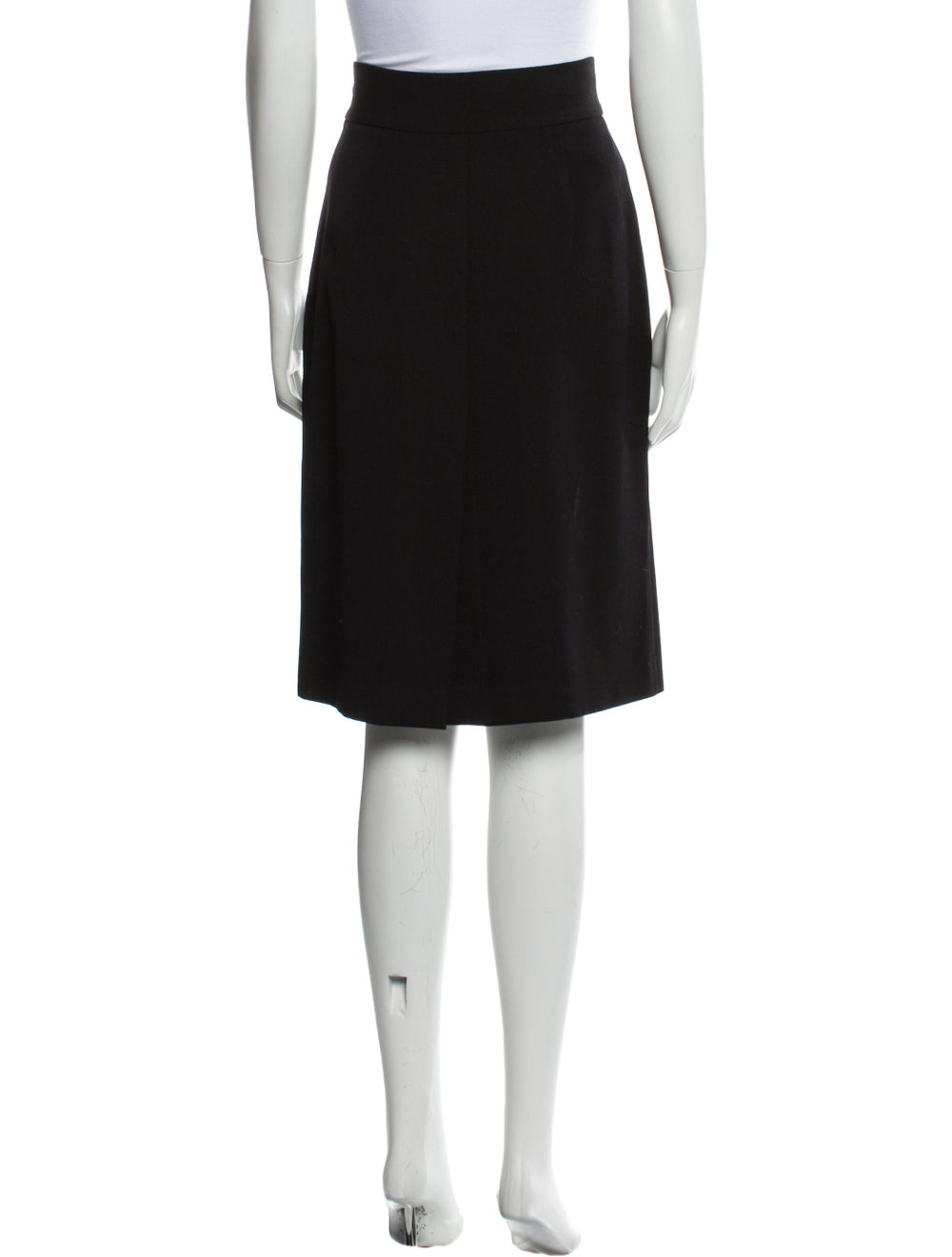 Prada Virgin Wool Knee-Length Skirt Wool - image 3