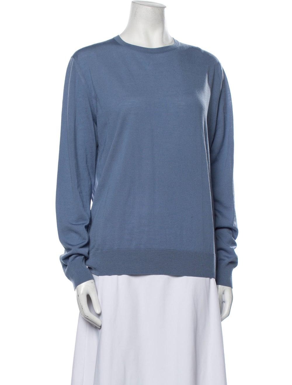 Prada Virgin Wool Crew Neck Sweater Wool - image 1