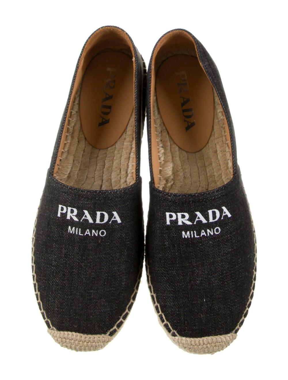 Prada Printed Espadrilles Grey - image 3