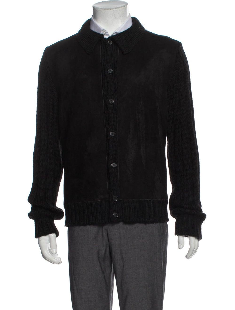 Prada Virgin Wool Mock Neck Cardigan Wool - image 1