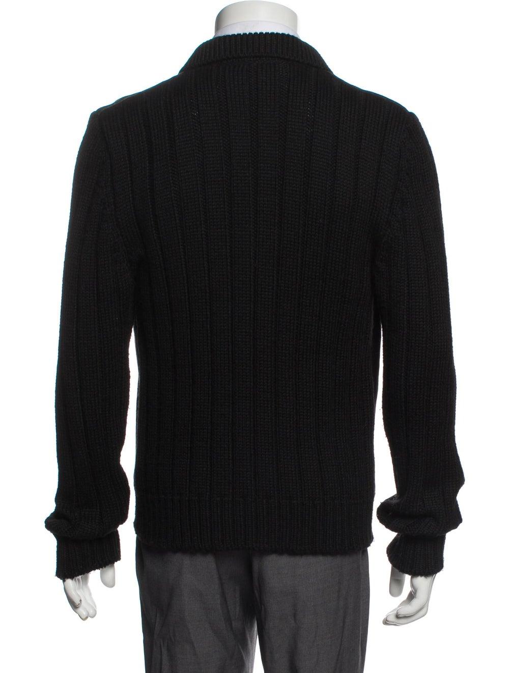 Prada Virgin Wool Mock Neck Cardigan Wool - image 3