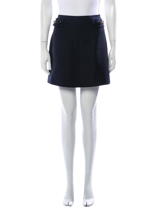 Prada Wool Mini Skirt Wool