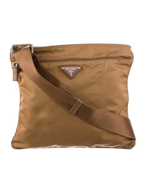 Prada Vela Messenger Bag Brown