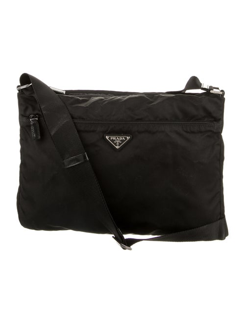 Prada Tessuto Messenger Bag Nero