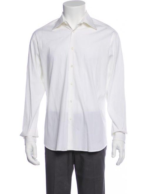 Prada Long Sleeve Dress Shirt White