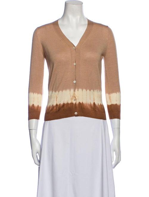 Prada Wool Tie-Dye Print Sweater Wool