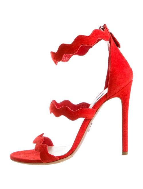 Prada Suede Sandals Red