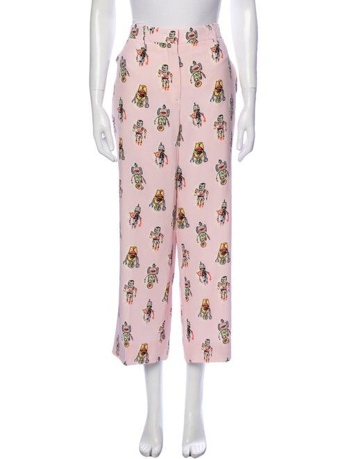 Prada Silk Wide Leg Pants Pink