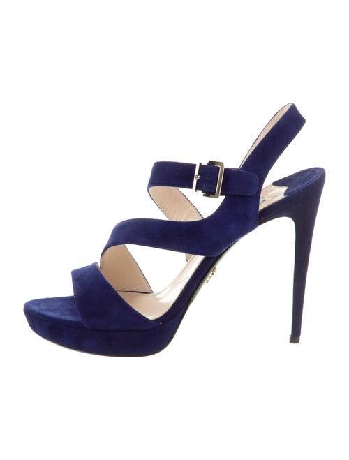 Prada Suede Sandals Blue