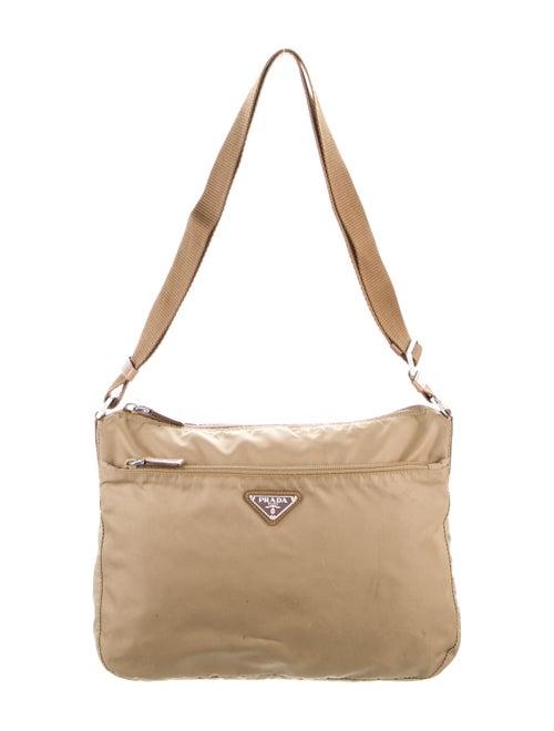 Prada Tessuto Messenger Bag Silver