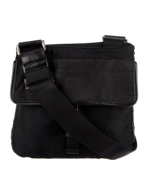 Prada Tessuto Messenger Bag Black