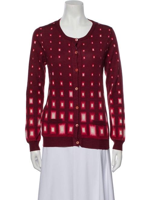 Prada Wool Printed Sweater Wool