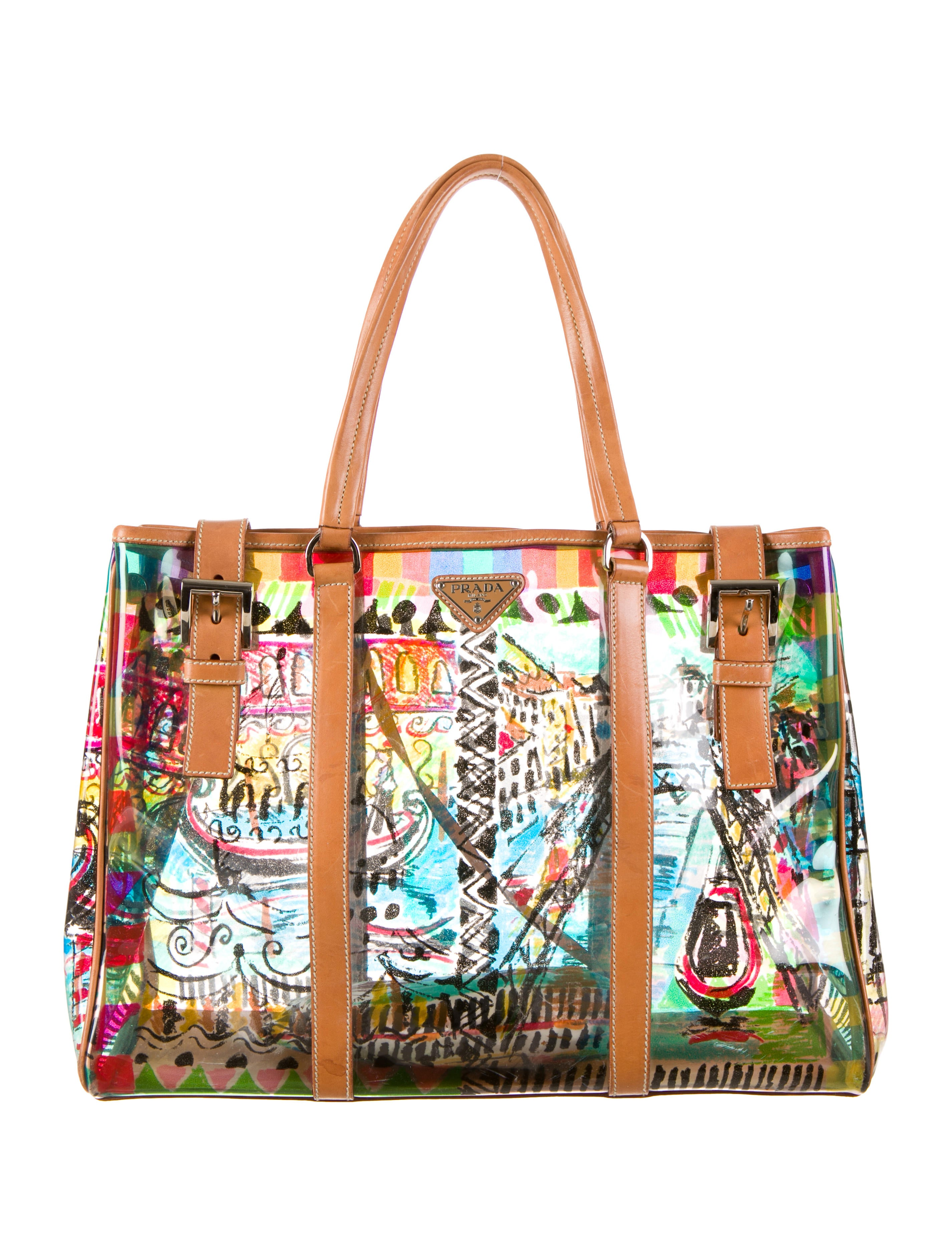11d61ee22d29 Prada Vinyl Venice Tote - Handbags - PRA57550 | The RealReal