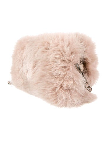 Fox Fur And Python Chain Bag