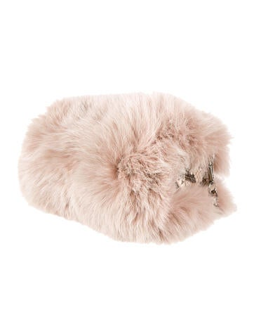 Fox Fur And Python Chain Bag