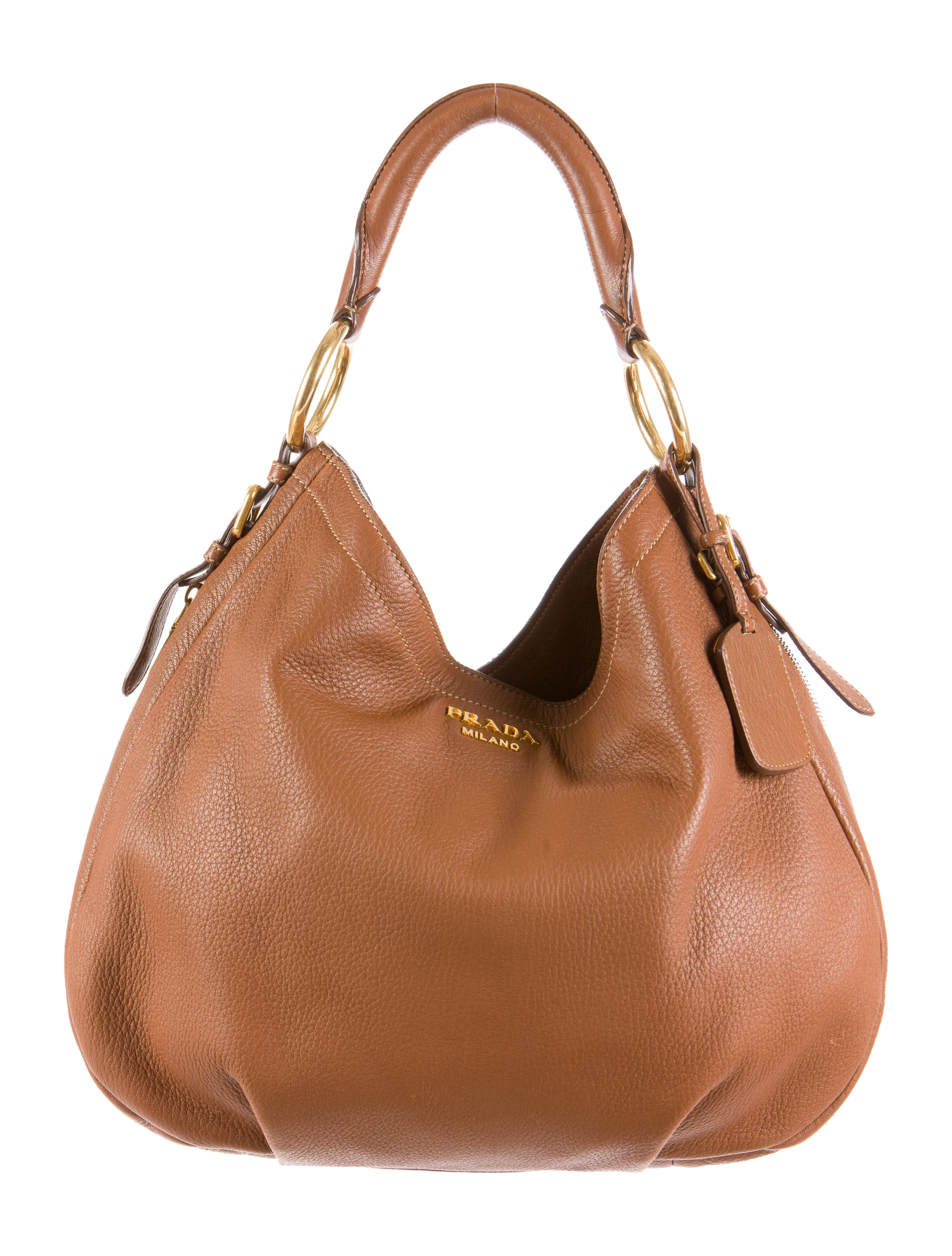 ec9a92664a5b Prada Vitello Daino Ring Hobo - Handbags - PRA72010