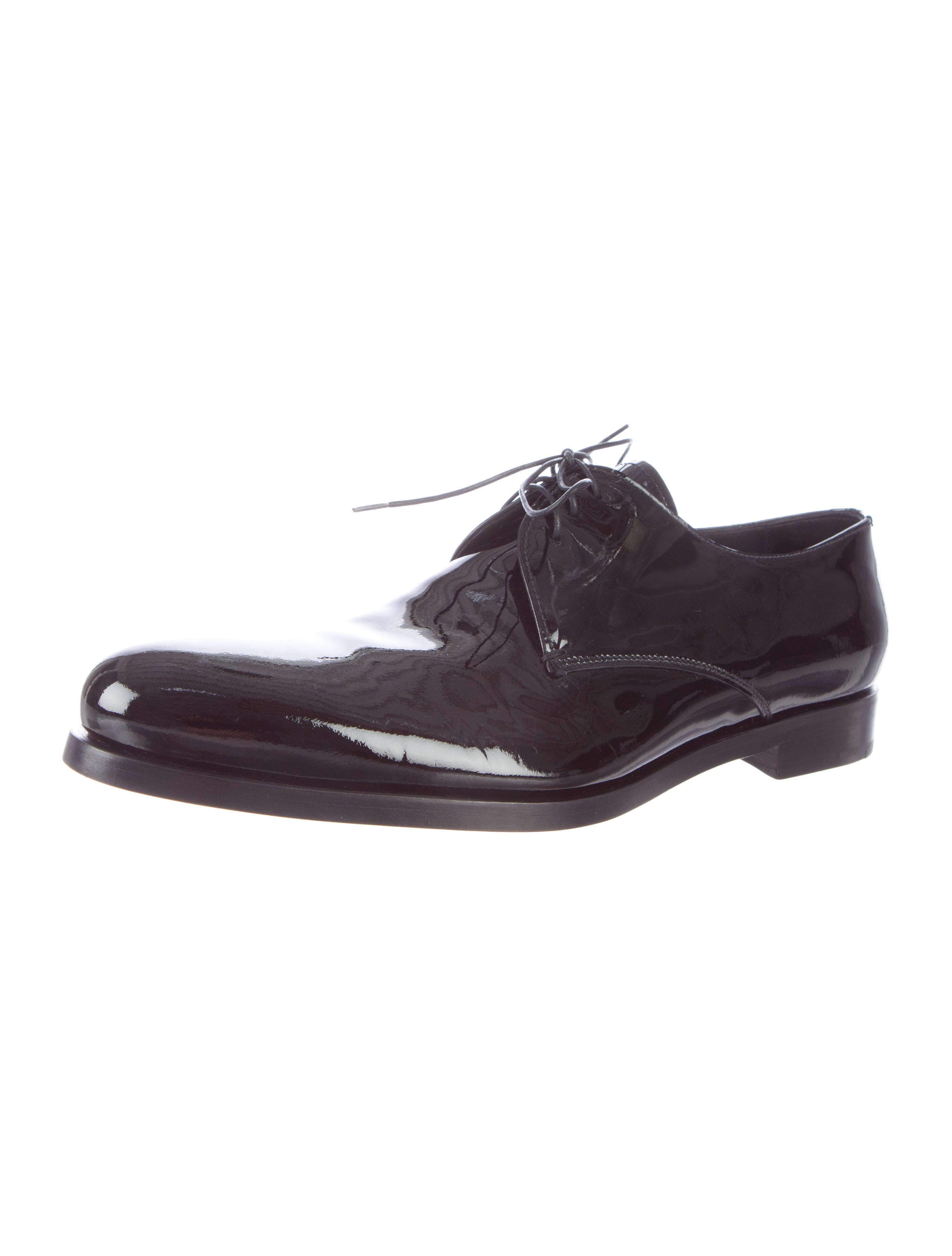 prada patent leather derby shoes shoes pra77790 the