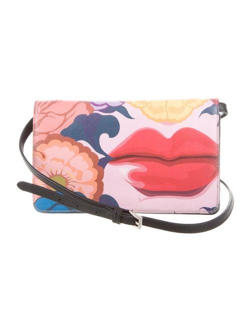 abcb862fd2cd56 Prada Saffiano Lips Print Crossbody Bag - Handbags - PRA79181 | The ...