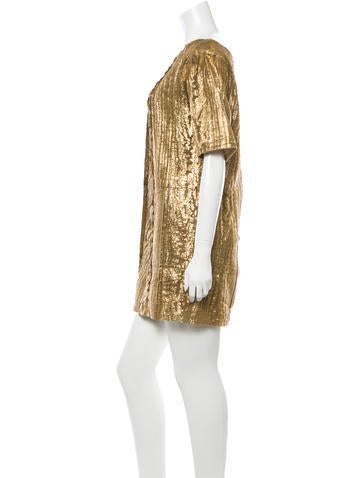 Metallic Bateau Neck Tunic