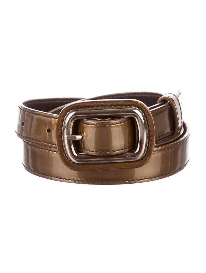 prada patent leather belt accessories pra80027 the
