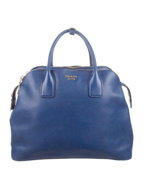 Prada Saffiano Cuir Triple-Zip Dome Tote - Handbags - PRA80172  5ca55a9e81