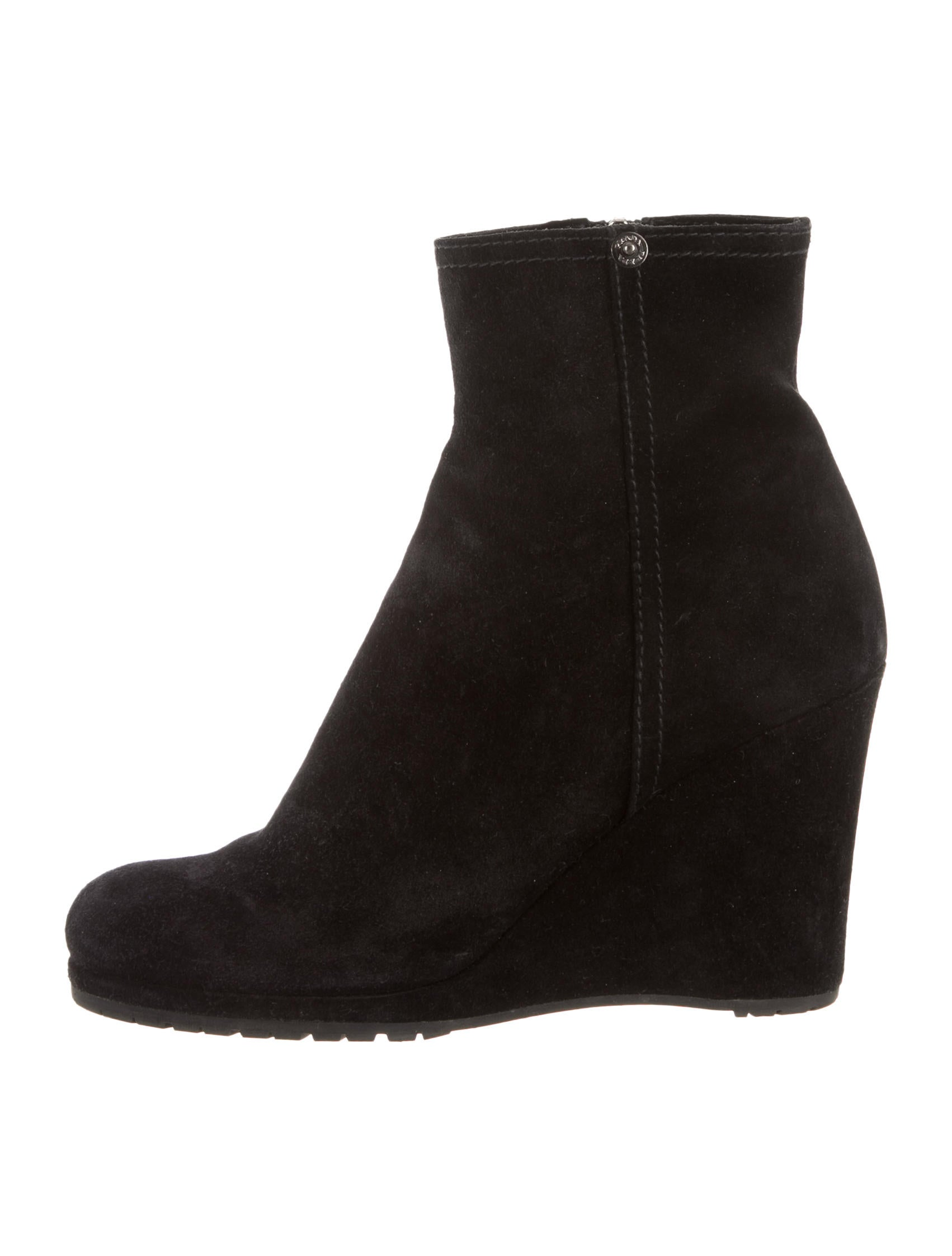 prada suede toe ankle boots shoes pra80870 the