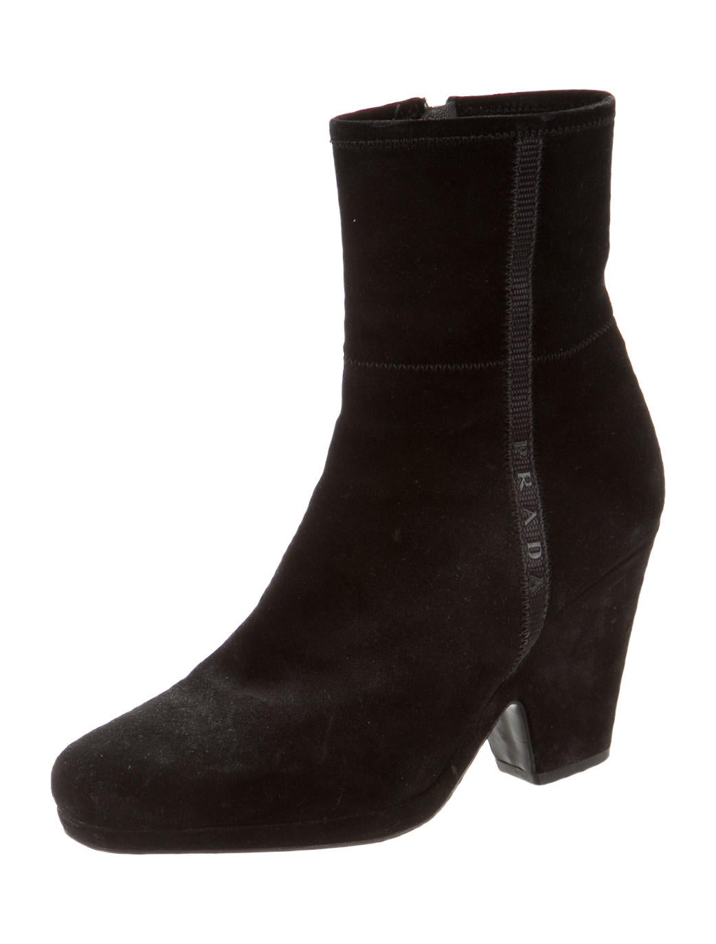 prada suede ankle boots shoes pra81146 the realreal