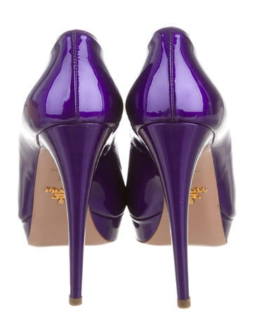 Patent Leather Peep-Toe Pumps