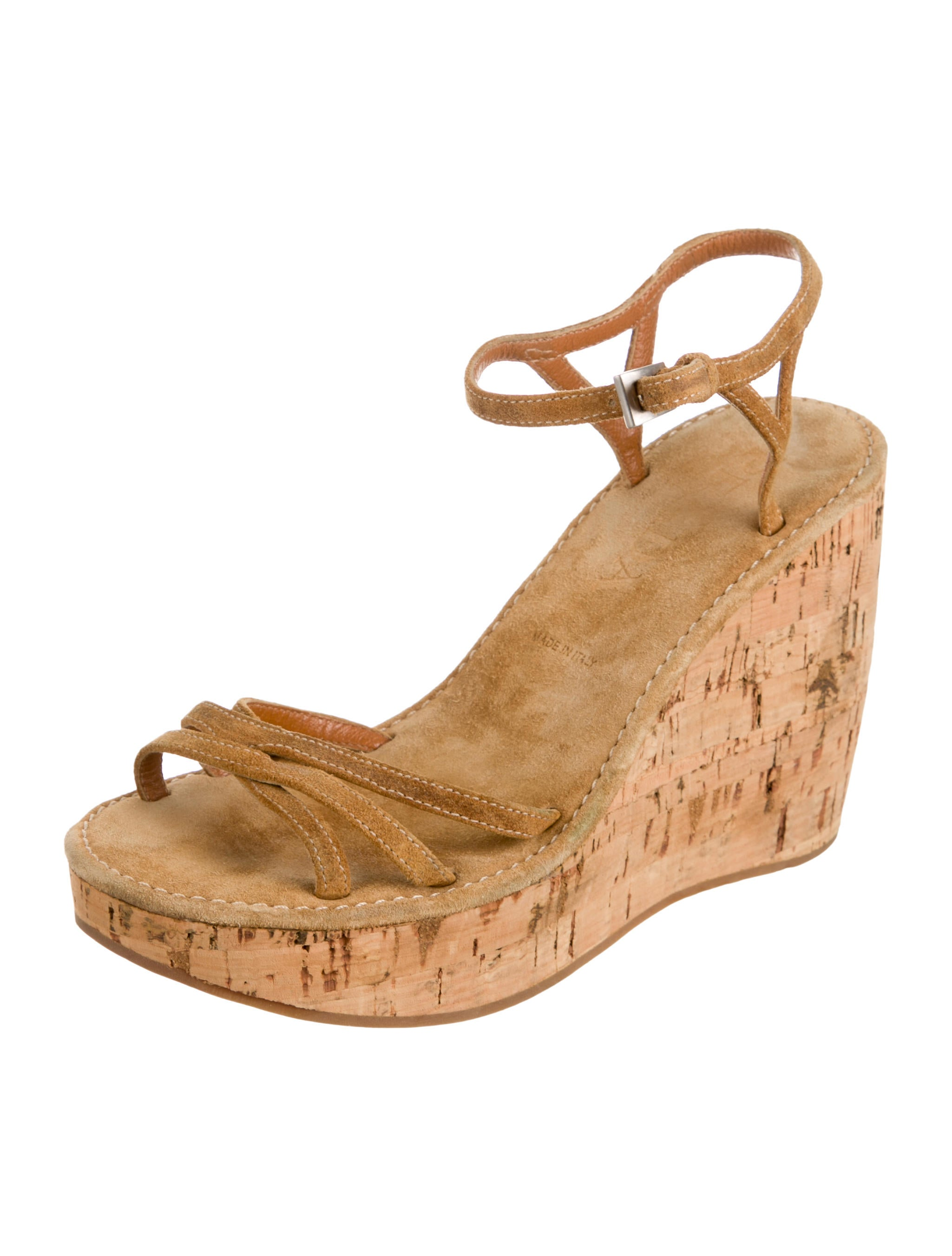 prada suede platform wedge sandals shoes pra82750