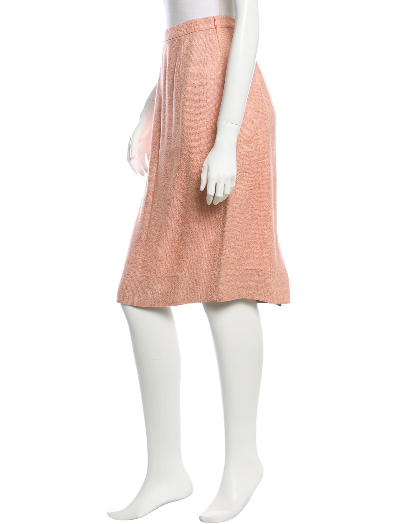 prada knee length pencil skirt clothing pra82948 the