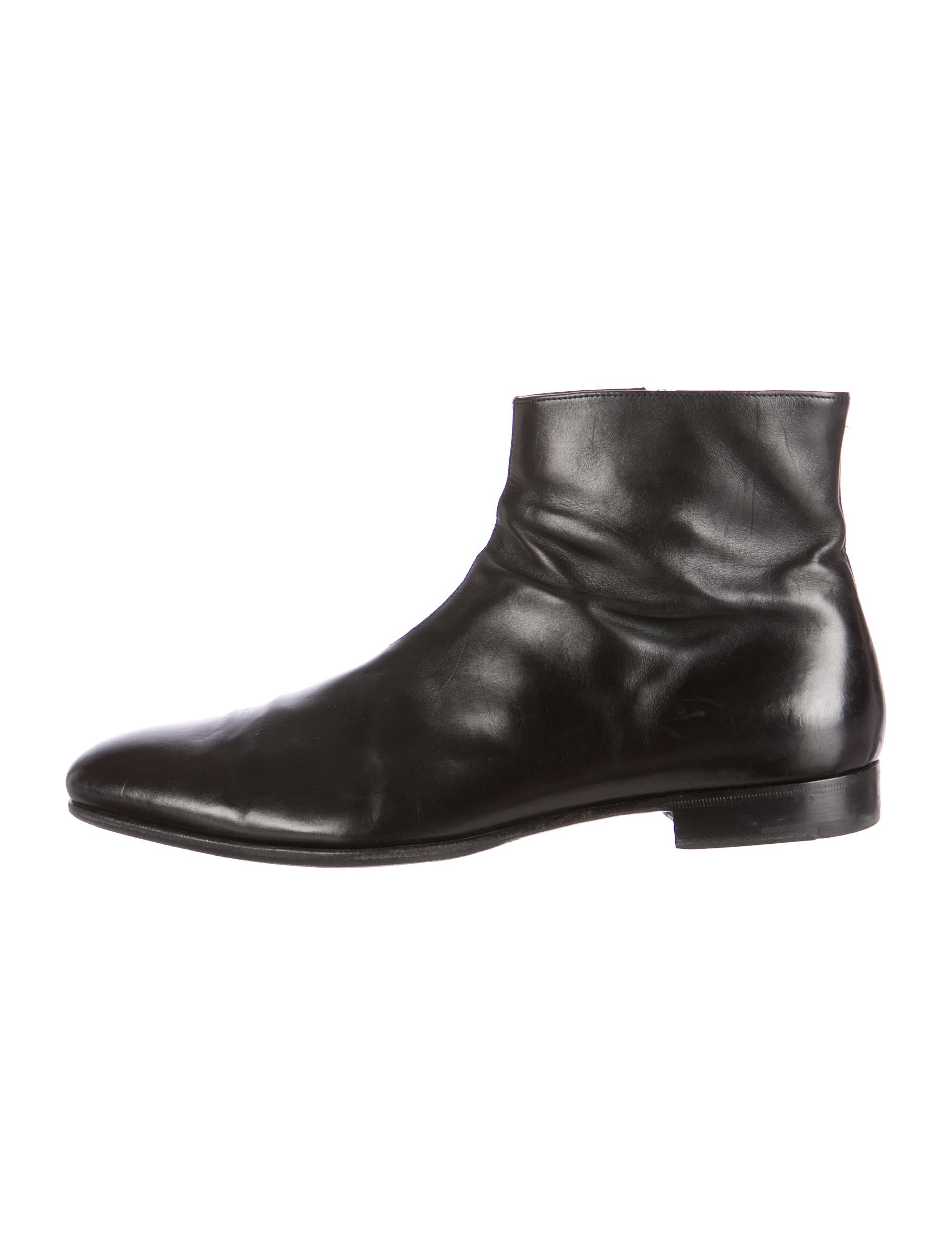 prada leather ankle boots shoes pra82983 the realreal