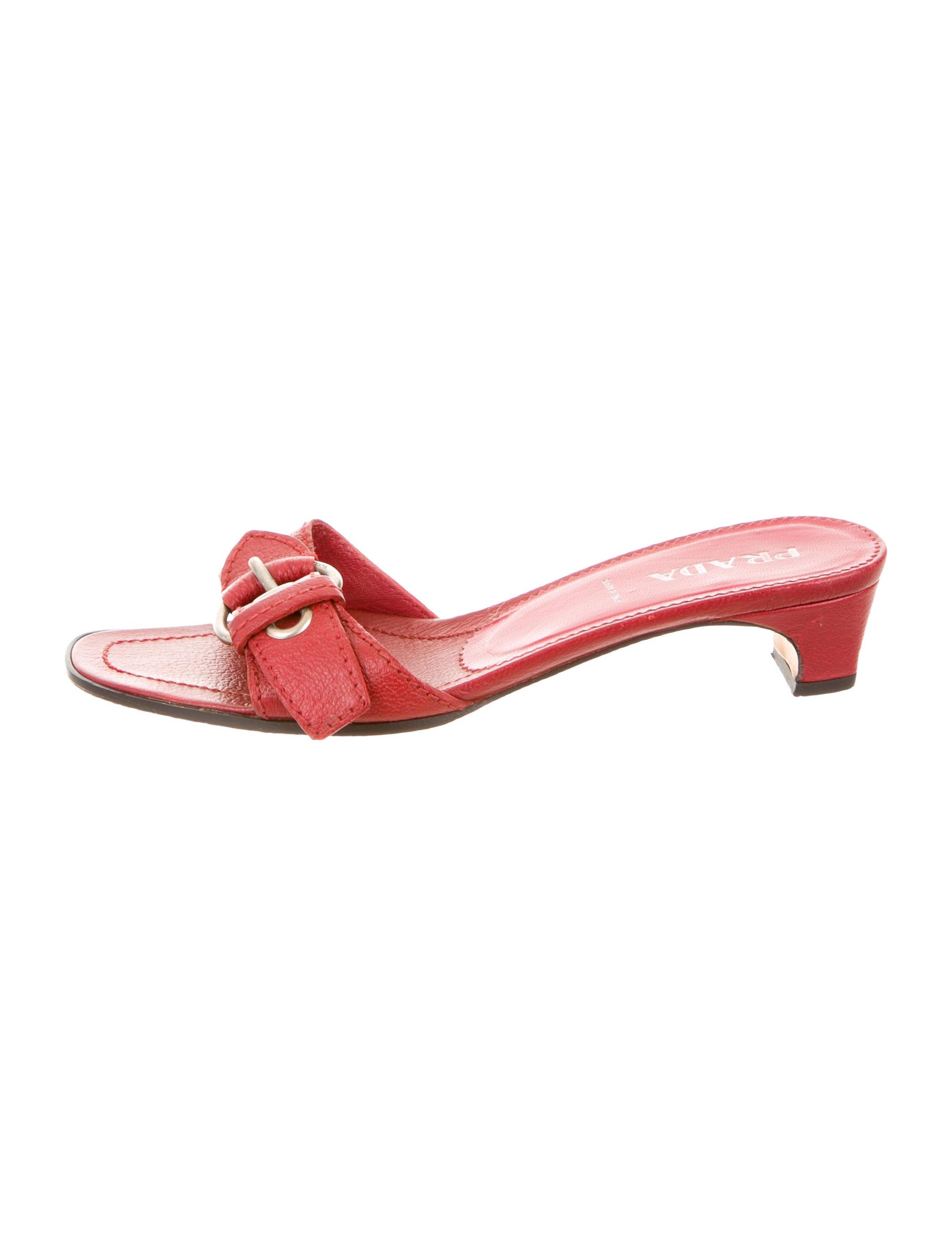cheap price clearance online ebay Prada buckled slider sandals Qb8cj0ye