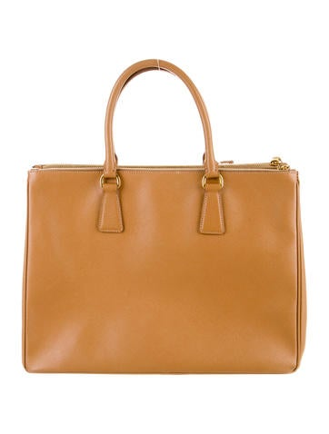 Large Saffiano Lux Double Zip Tote