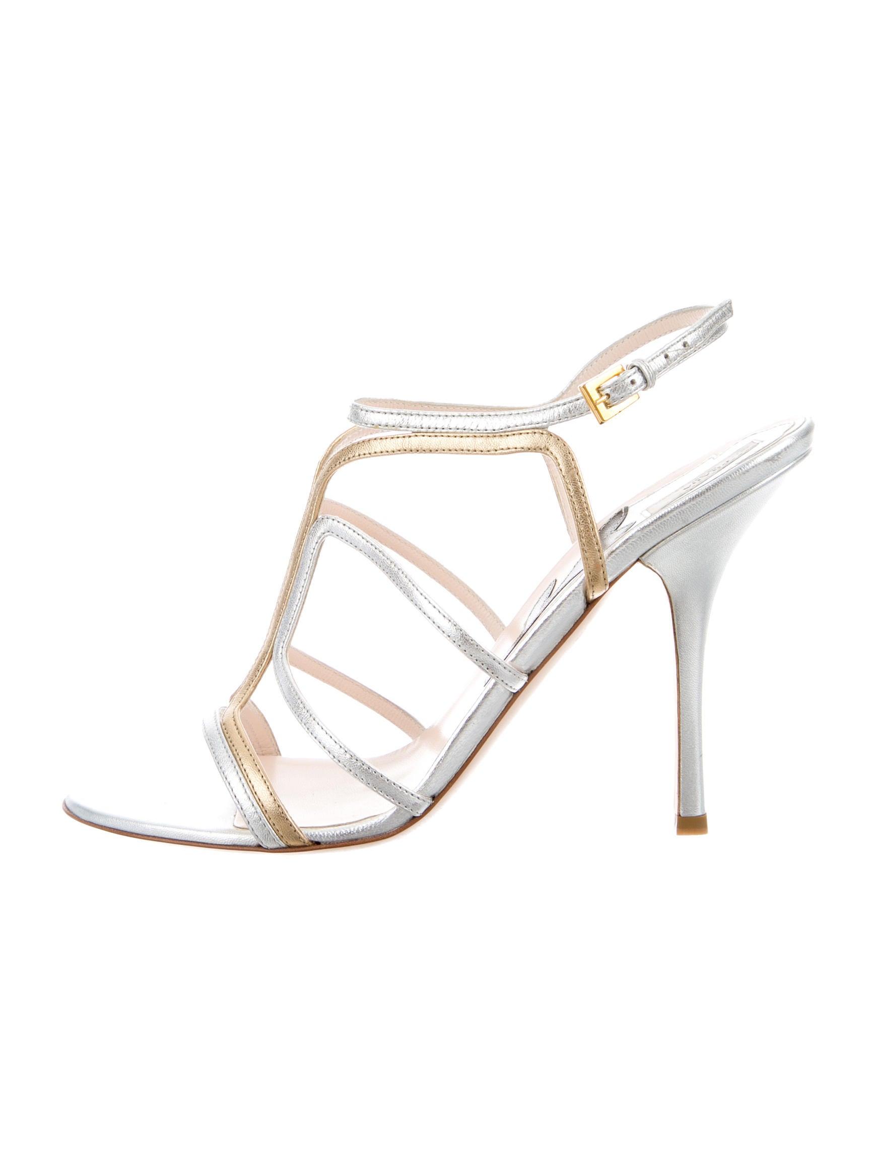 1437999b5 Prada Metallic Cage Sandals - Shoes - PRA84696