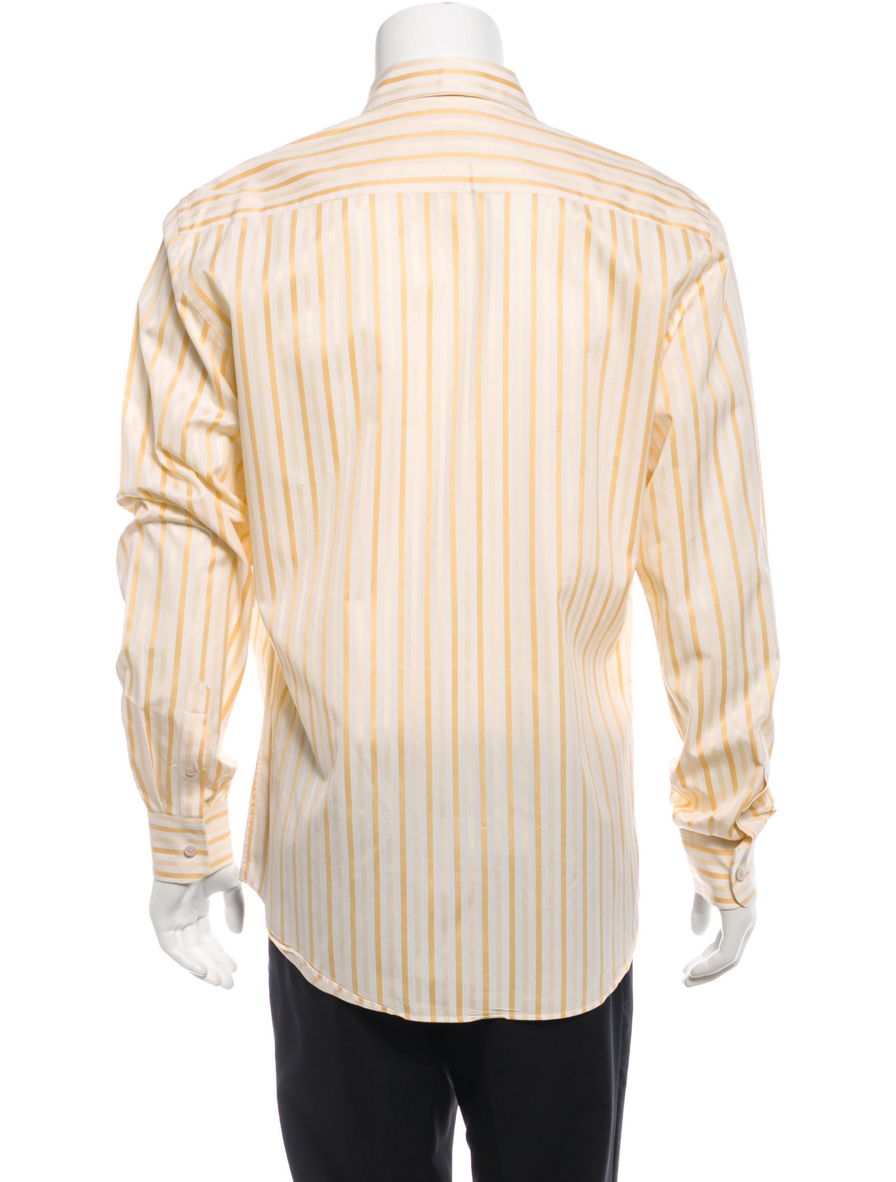 Prada Long Sleeve Button Up Shirt Clothing Pra85319