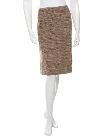 Prada Knit A-Line Skirt None