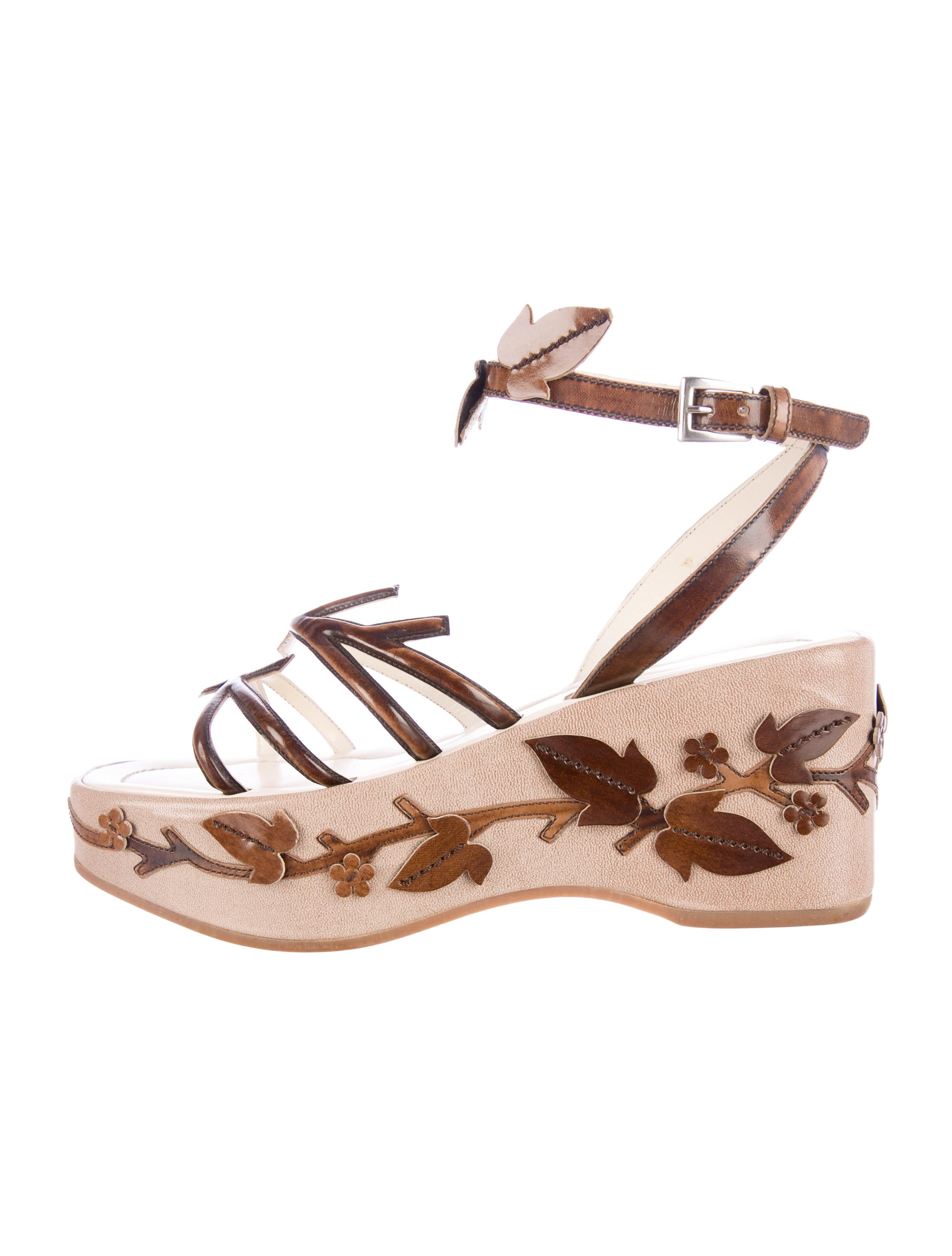 outlet 2014 unisex free shipping best sale Prada Floral Platform Sandals buy cheap wholesale price store cheap price cFM7W