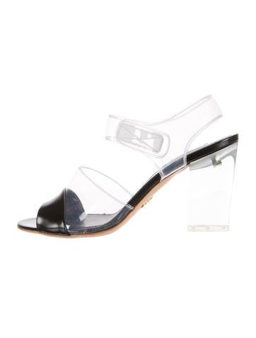 PVC Ankle-Strap Sandals