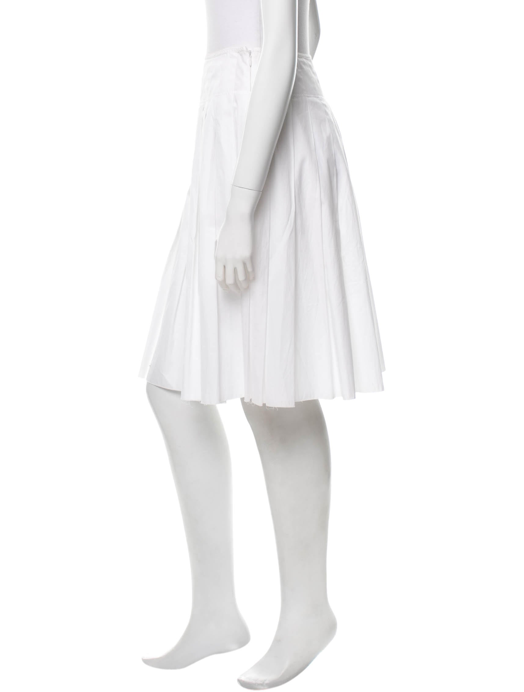 prada pleated knee length skirt clothing pra88652