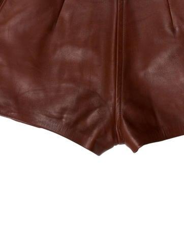 Leather High-Wait Shorts