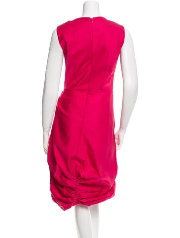 Sleeveless Pleated-Accented Dress