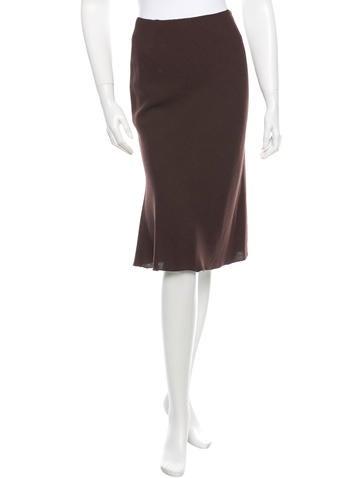 Prada Woven A-Line Skirt