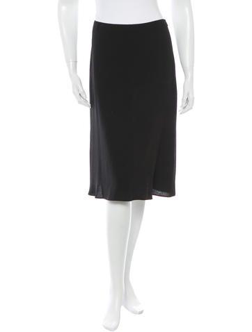 Prada Knit Knee-Length Skirt None
