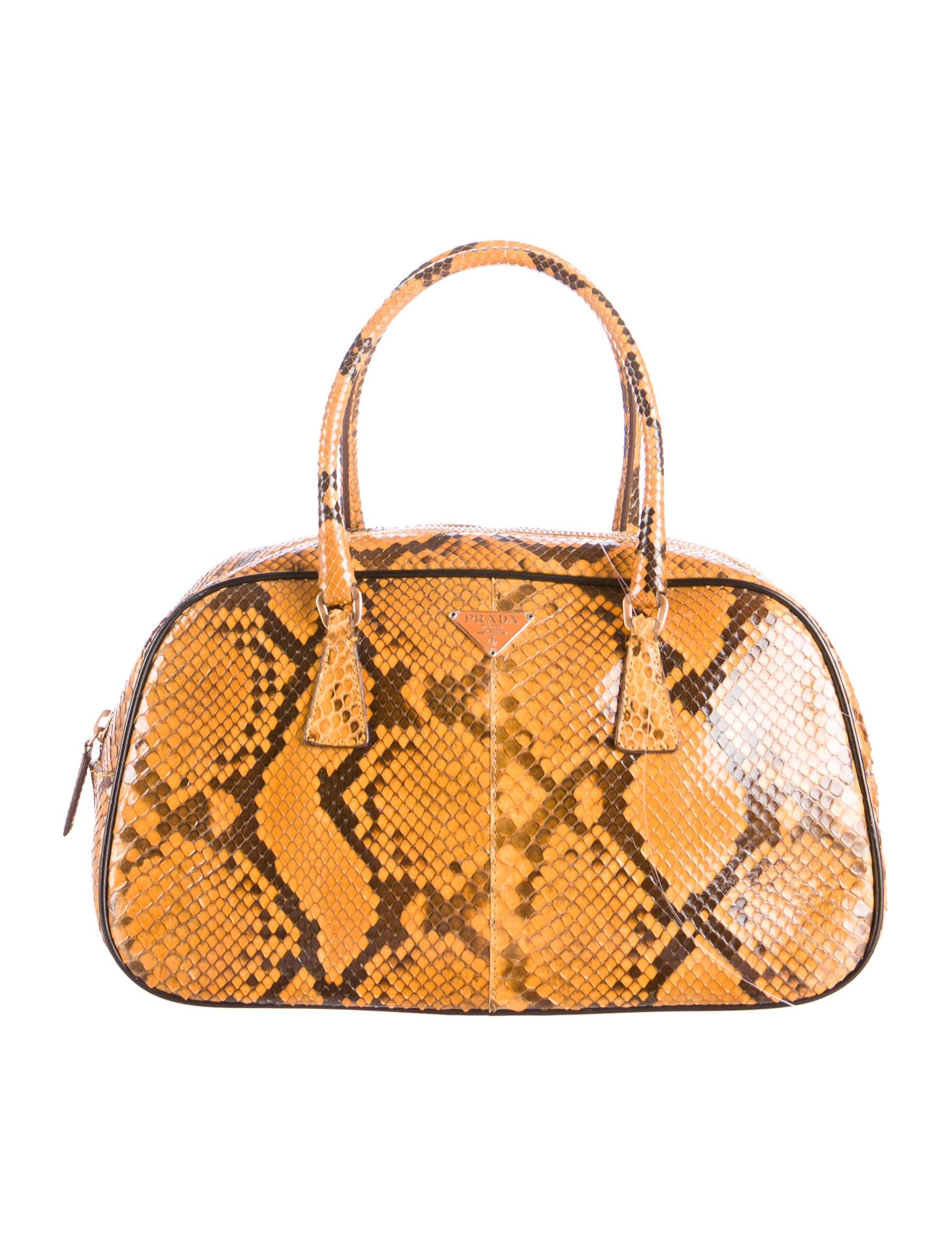 ffaf403fd854 Prada Python Bauletto Bag - Handbags - PRA91208   The RealReal