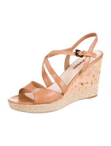 Leather Wedge Sandals