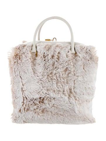 Ecopelliccia Saffiano Zip-Around Bag